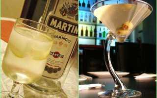Рецепты приготовления коктейлей с Мартини