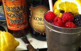Советский рецепт приготовления коктейля Шампань Коблер